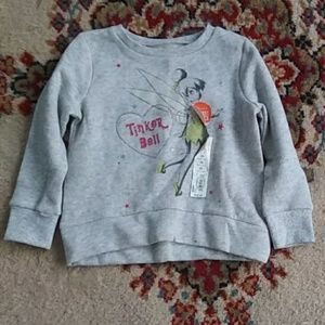 NWT Disney girls Tinker Bell Fleece Sweatshirt. 2T